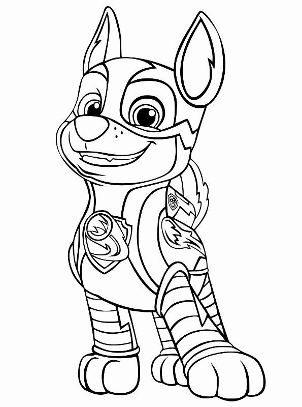 Paw Patrol Chase Coloring Awesome Kids N Fun Paw Patrol Coloring Pages Paw Patrol Coloring Chase Paw Patrol