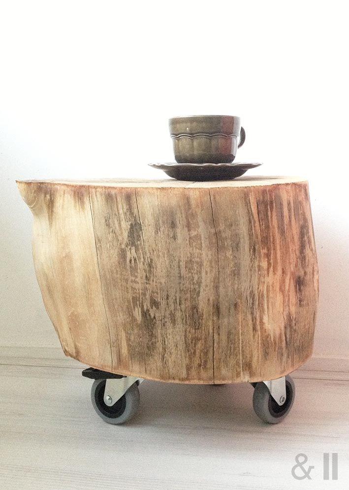 Diy tree trunk diy pinterest tree for Diy wood stump table