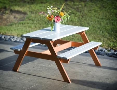 Toddler Picnic Table | Do It Yourself Home Projects from Ana White