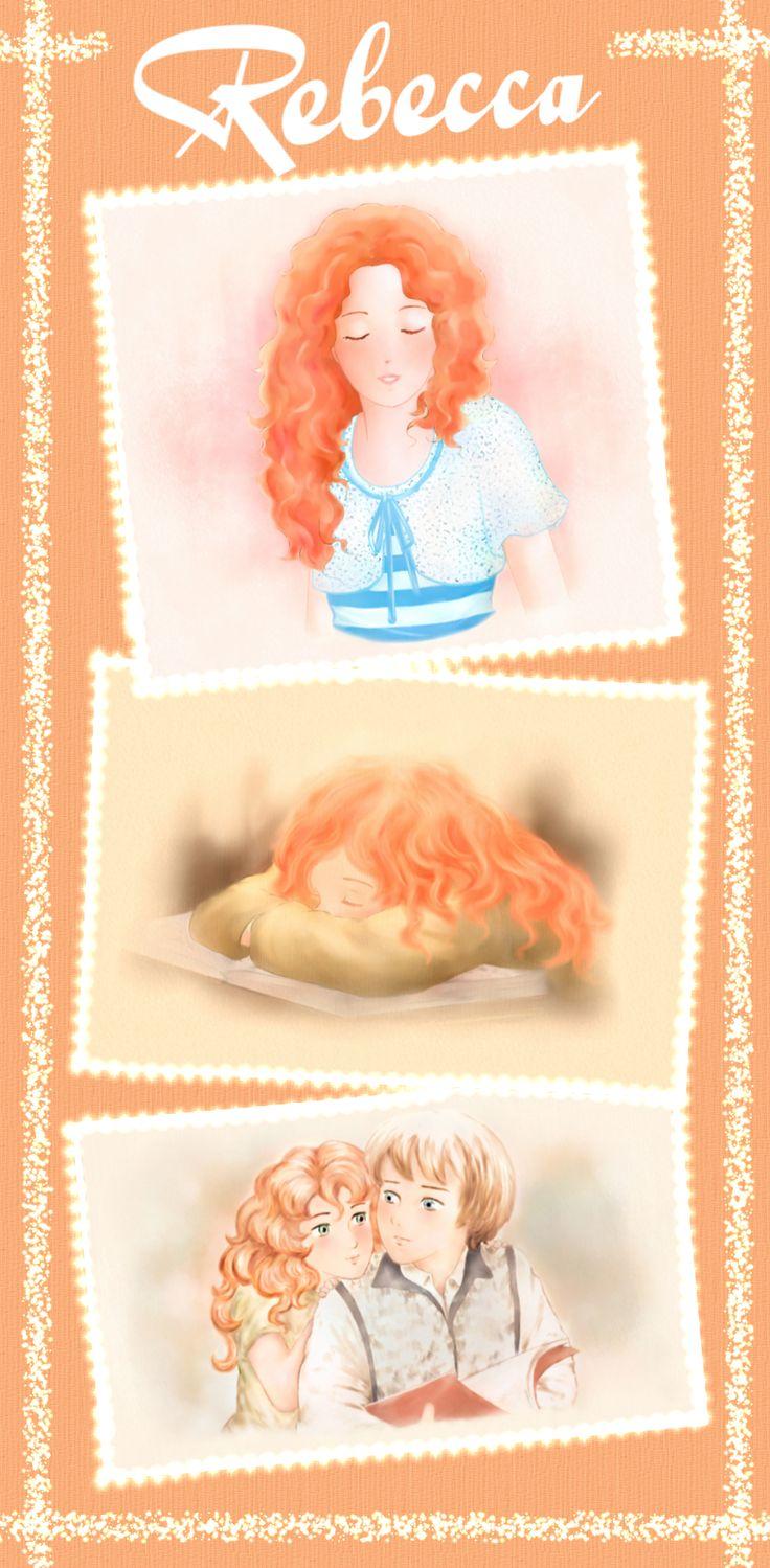 """""""Rebecca"""": illustrazioni per il romanzo per ragazzi """"Vivere a Venezia"""", di Laura M. Cecilia Ferro. #illustrazioni, #manga, #cartoon"""