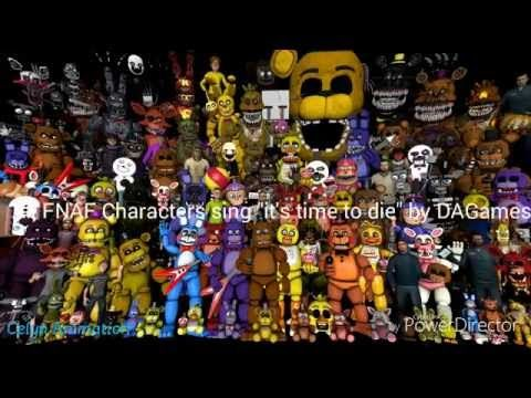 All Fnaf Characters Sing The Fnaf Song Youtube Fnaf