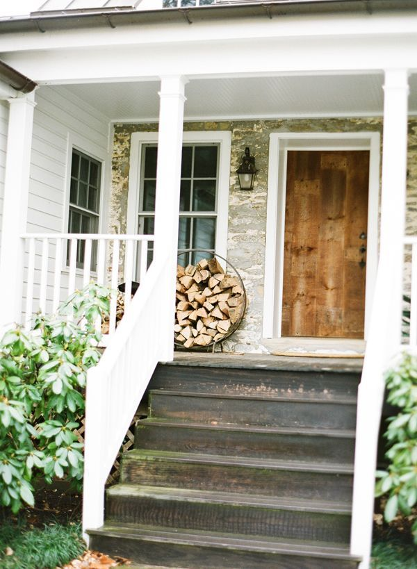 77 best images about cute cottage style porches on pinterest for Cottage style front doors