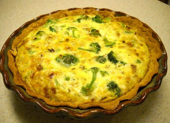 Canadian Bacon, Green Chile, & Cheddar Quiche With A Shredded Potato ...