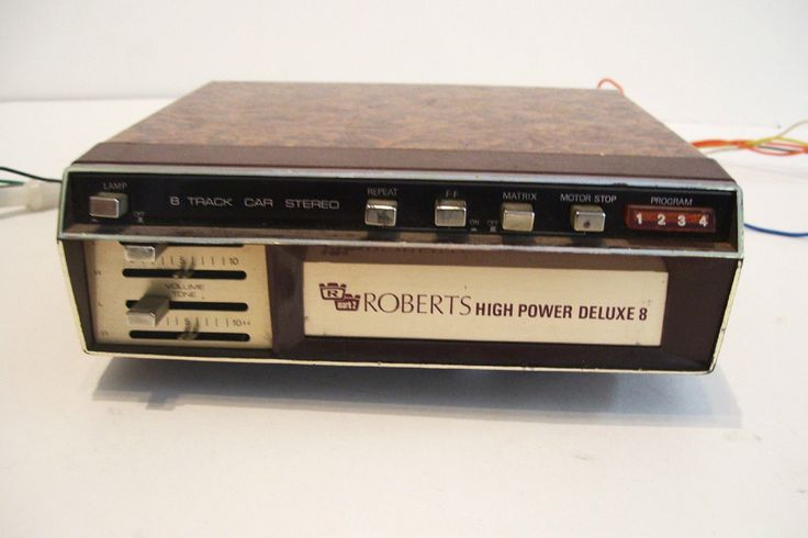 Vintage Roberts 8 Track Tape Player Car Stereo - Untested by okanaganvintage on Etsy