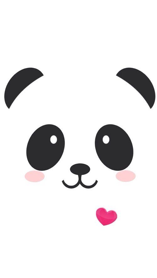 Panda Kawaii para la funda de móvil o celular hecha con Goma Eva (fomi)