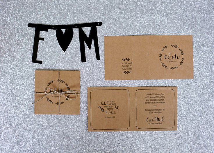 Einladungskarten   Flowerwreath   Einladungen Auf Naturkarton   Ein  Designerstück Von Stennie Bei DaWanda