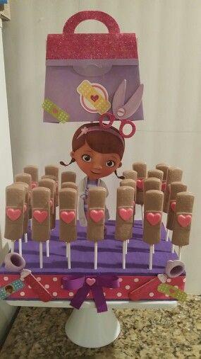 Chocolate dr mcstuffins pops
