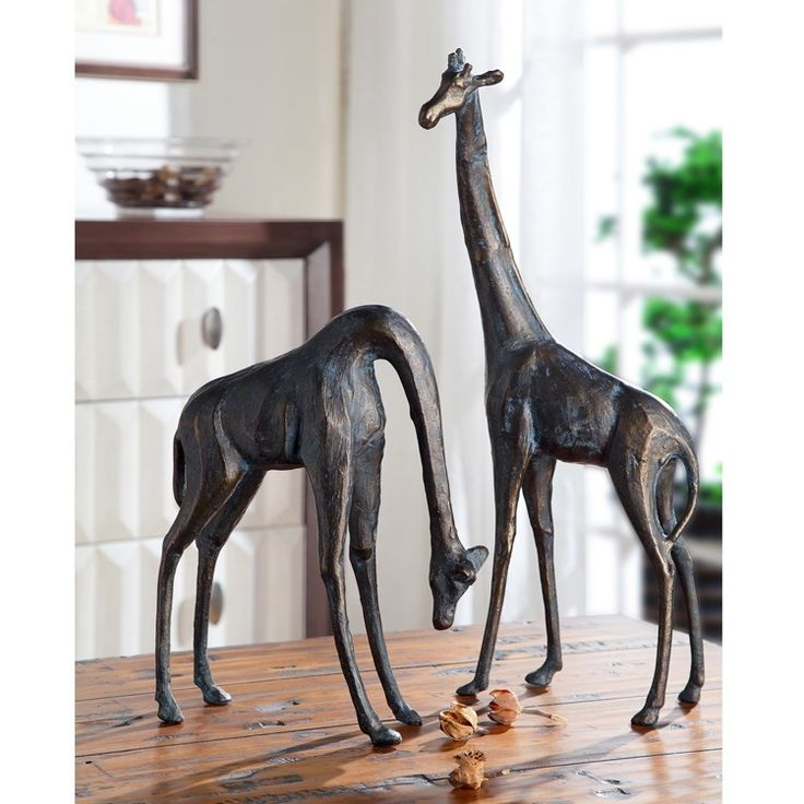 Giraffe Pair Sculpture Savanna 51004 Spi Home