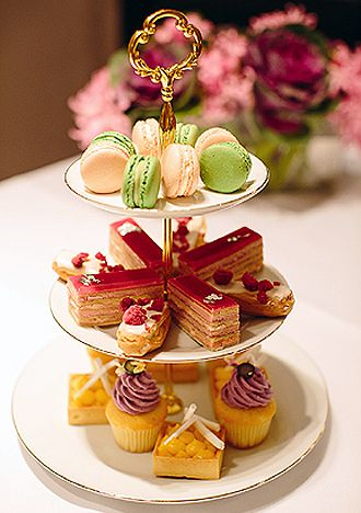 Afternoon Tea Delights - such a pretty display