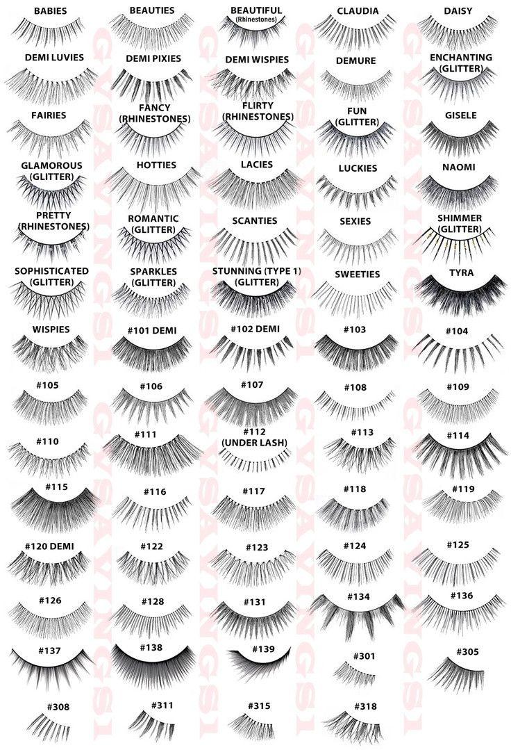 Complete Ardell Lash styles chart. Anyone try the half sets? - Imgur