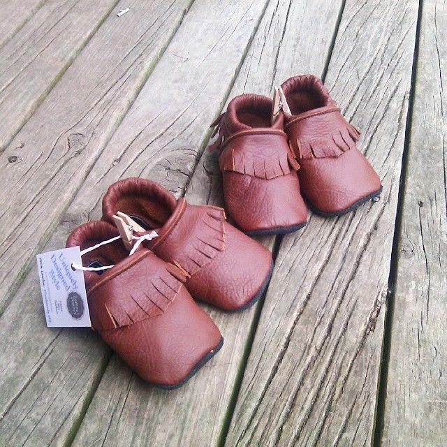 Double trouble twins!!!!!!! #moccs #babyshoe #babymoccasins #babyfashion #cute #kiddiestyle #perfectpoppet #firstwalker #walker #childshoe #childrensfashion #instadaily #instalike #bestoftheday #smile...