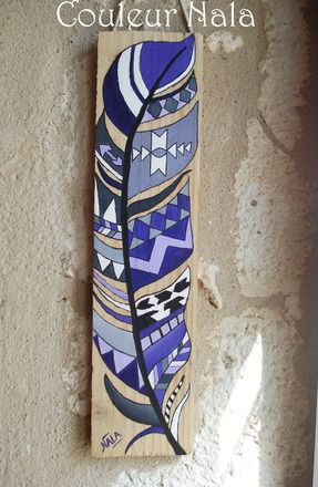 Reserve tableau peinture sur bois de palette motif for Peintures sur bois