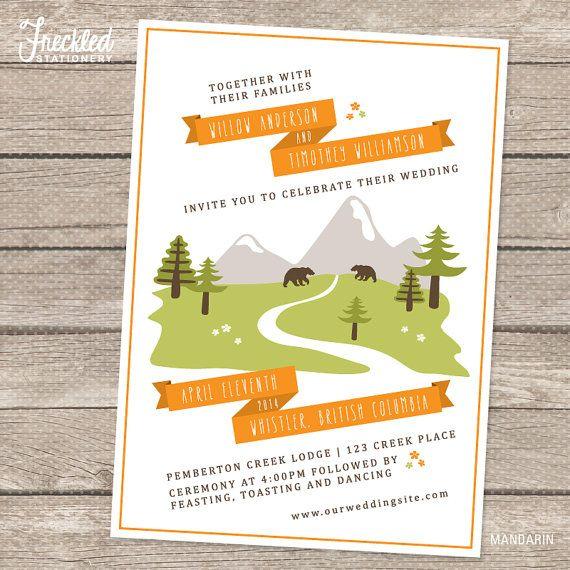 Wedding Invitation  Printable PDF  by FreckledStationery on Etsy, $25.00