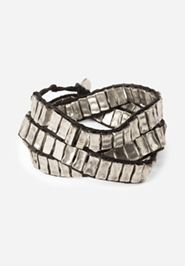 New! - Noonday Collection - Silver Steps Wrap Bracelet
