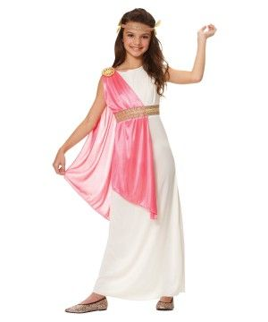 Wondercostumes.com has the prettiest Roman Costumes and more for Halloween. She's got picky taste, but she's sure to love the Roman Empress Girls Costume.