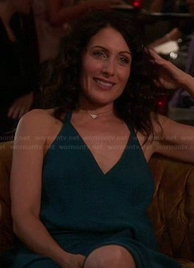 Abby's teal halter neck maxi dress on Girlfriends Guide to Divorce