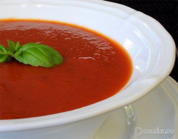 Суп пюре томатный турецкая кухня