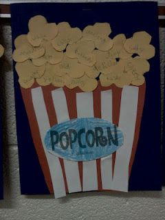 Would be cute craft for the letter P and follow up by air popping popcorn! Stringing popcorn as well for fine motor! Color popcorn kernels and sort/ pattern!