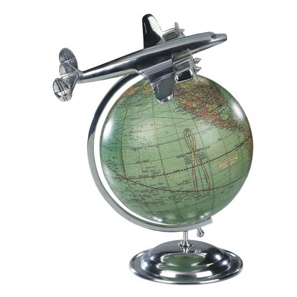 Aluminium Model Plane and Globe