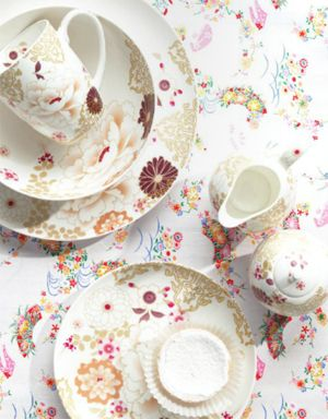 OWN: I have the whole range of Maxwell Williams Kimono in White (Plates, saucers, cups, teapot, cake stand, sugar holder etc)