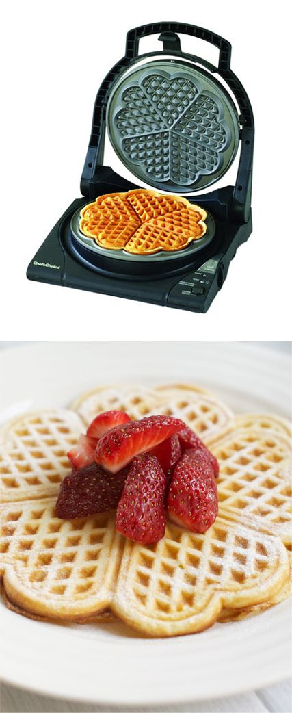<3 Heart-shaped waffle maker // I want this to make waffle hearts for my sweetheart! <3