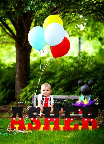 One Year Old Photoshoot Mickeymouse Baby Pictures