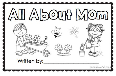 """Mother's Day student-made book. Gift for mom! Also includes """"grandma"""""""