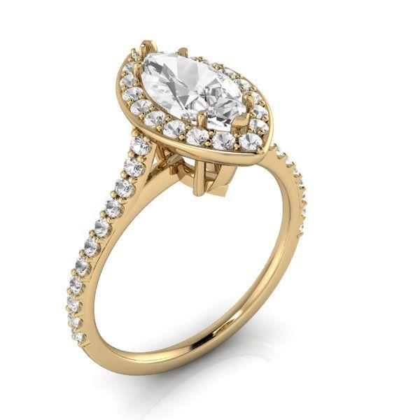 14k yellow gold: 1.007 carat  #JewelryByHarold #EngagementRings