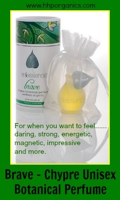 Certified Organic Perfume - Brave. Go to http://hhporganics.miessence.com/community/events.jsf  $89.10AUD