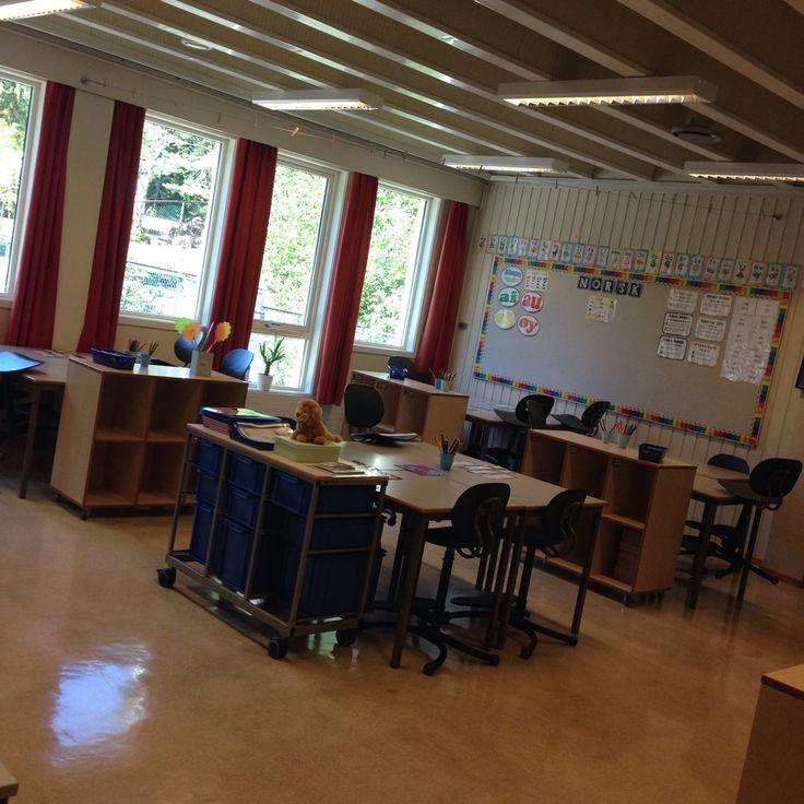 Litt av rommet til 2b - Aronsløkka skole - Drammen
