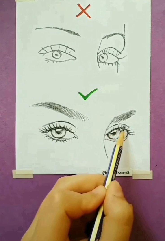 Bleistiftzeichnung Schritt für Schritt Eye Attracts (realistisch und farbenfroh) -…