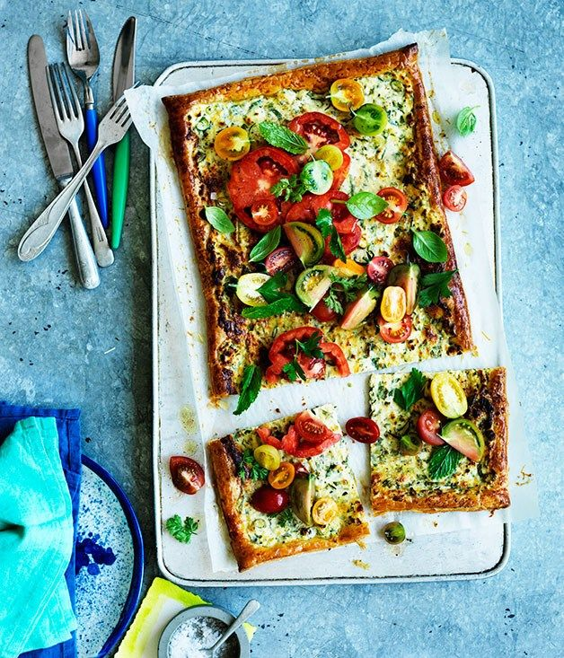 Fast tomato and ricotta tart recipe :: Gourmet Traveller