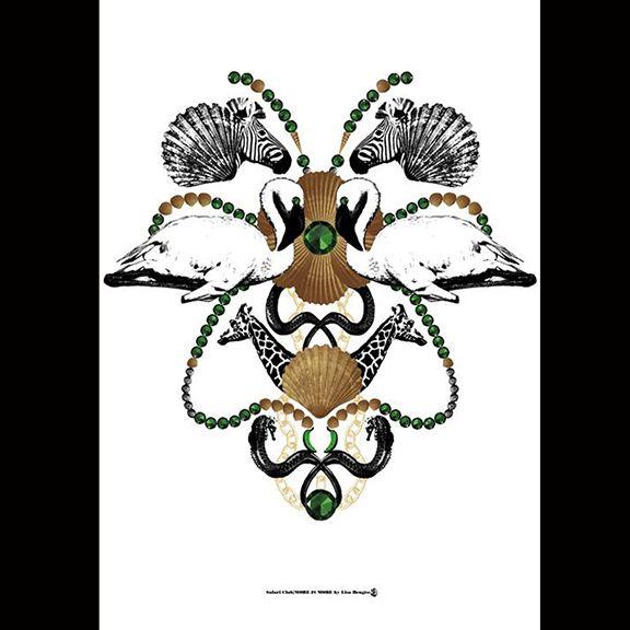 Lisa Bengtsson Safari Club Poster