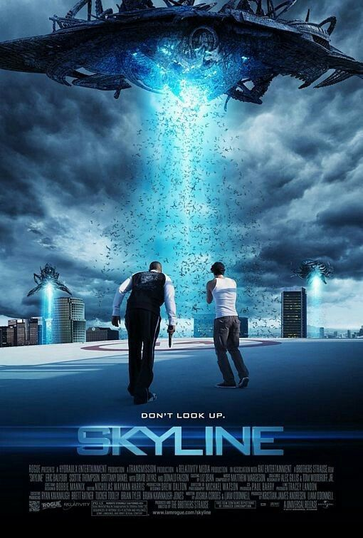 Skyline movie poster I thought this was a cool movie I like that a lot