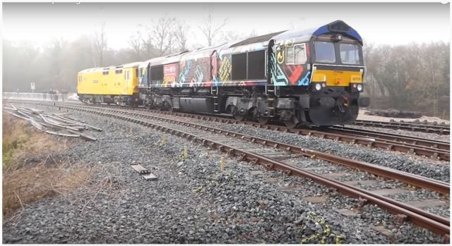 """,,,,, continued from .   In the second part of this post we follow the Class 73, 66 and the heritage SR brake van back from the """"C..."""