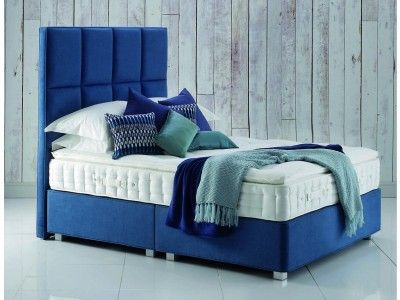 Hypnos Pillow Top Sapphire Single Divan Bed - Upholstered with layers of wool, alpaca, Solotex and non-allergenic white fibre from £1,332.00