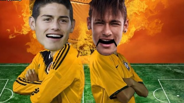 Neymar vs. James Rodríguez se atacan e insultan en divertida parodia