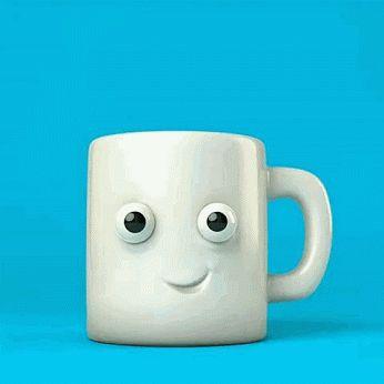 Morning coffee - gif - very funny