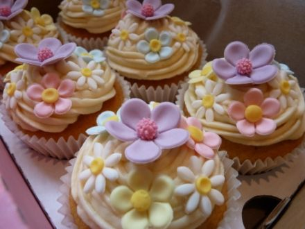 Lemon and Rose Flavor Floral Cupcakes