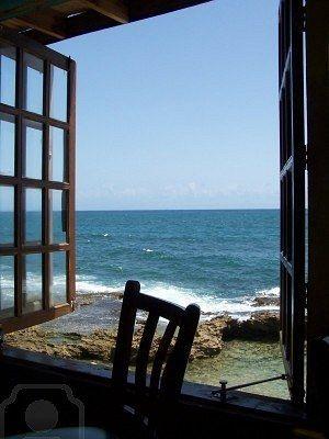 Ocean view from window Stock Photo selain memanjakan mata, deruan ombak memberikan rasa nyaman.....