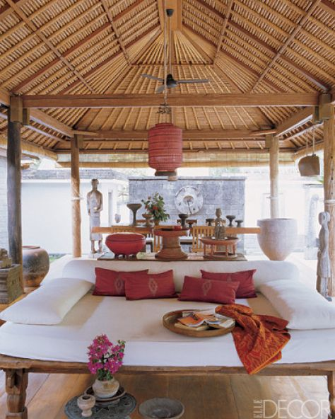 Bali-outdoor- Elle decor. Indonesian teak furnishings, Indonesian accents &  Bali weft
