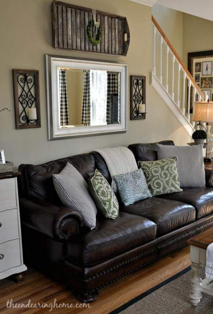 31 Rustic Farmhouse Living Rooms With Barnwood Frames Couches