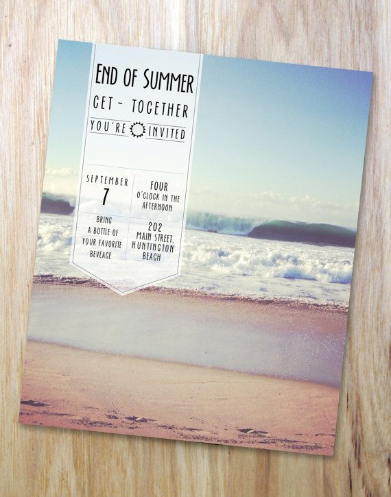 End of Summer Party Invite  You Customize by KCLleuEvents on Etsy