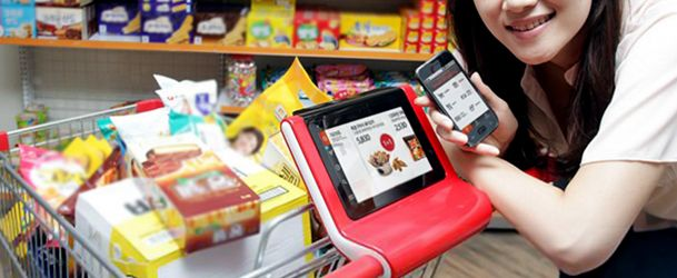 shopping cart mounted tablet - Google Search