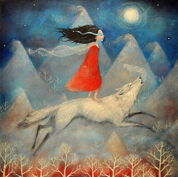 """Limited edition giclée print of original painting by Lucy Campbell - """"Leap of Faith"""""""
