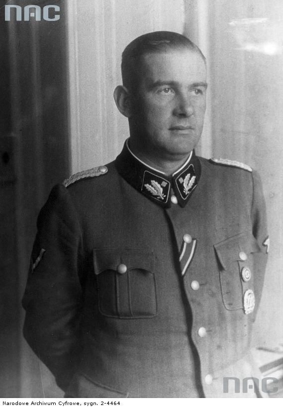 Odilo Lotario Globocnik (21 April 1904 – 31 May 1945) was a prominent Austrian Nazi and later an SS leader. As associate of Adolf Eichmann, he had a leading role in Operation Reinhard, which saw a murder of over one million mostly Polish Jews during the Holocaust in Nazi concentration camps Majdanek, Treblinka, Sobibor, and Belzec. From: Wikipedia