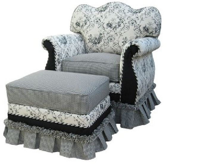 Carta Parati Classica Toile Elegance: Glider Rockers, French Cottage And Classic Elegance On