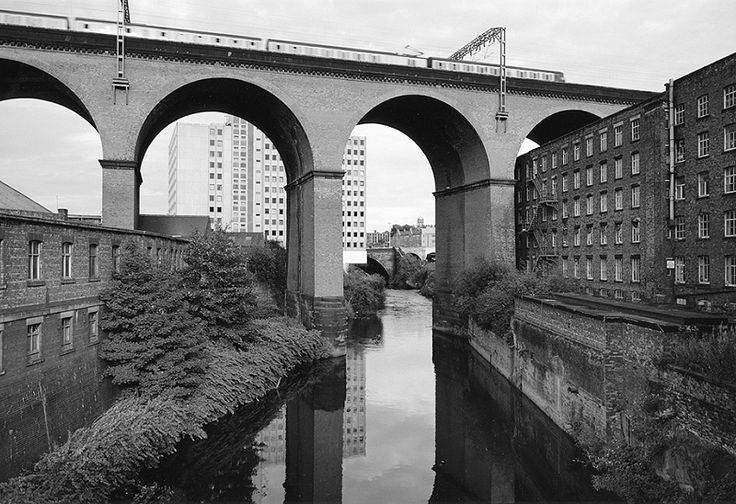 Viaduct, Stockport 1986 by John Davies.I like that you can tell that it looks brand new but really it just the camera quality looks HD.
