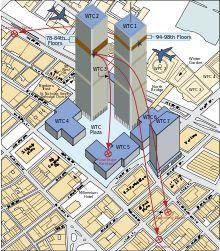 World Trade Center, NY - 2001-09-11 - Debris Impact Areas - Park51 - Wikipedia, the free encyclopedia
