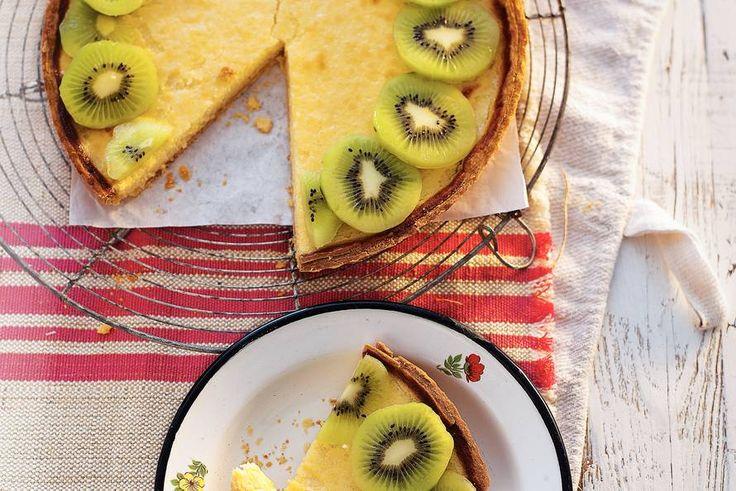 5 juni - Kiwi's in de bonus - Frisse taart met zelfgemaakt deeg. Een lekker recept voor warme dagen. Recept - Lichte citroentaart - Allerhande